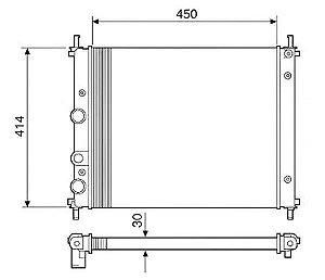 Radiador Água Fiat Brava 1.6 16v 00-01 C Ar Cond 12538