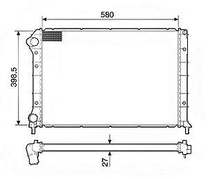 Radiador Água Fiat Doblo 1.6 S Ar Doblo 1.3 1.4 C Ar 12208