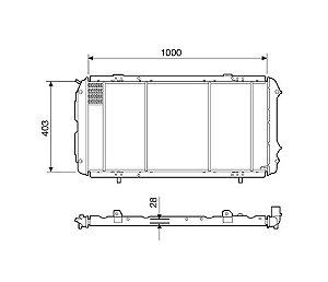Radiador Água Fiat Ducato 2.5 2.8 Ate 01 C Ar 12207