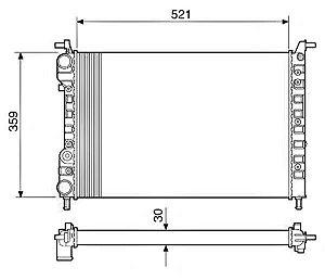 Radiador Água Fiat Palio Siena Strada 1.0 1.3 1.5 12534