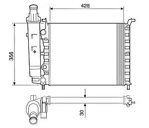 Radiador Água Fiat Palio Siena Strada 1.0 98-02 12533