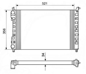 Radiador Água Fiat Palio Siena Strada 1.6 C Ar Cond 12536