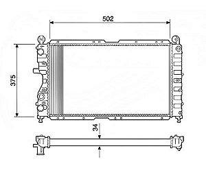 Radiador Água Fiat Tipo 1.6 93-97 Alfa 155 2.0 16v 92/ 12218