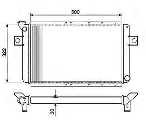 Radiador Água Ford Corcel 1.4 73-77 11006