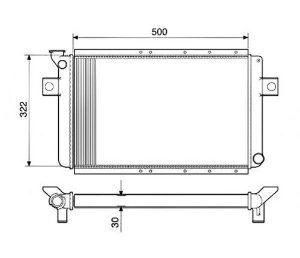 Radiador Água Ford Corcel 1.4 78-81 11007