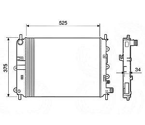 Radiador Água Ford Escort 1.6 1.8 16V 97-02 12587