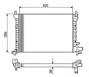 Radiador Água Ford Fiesta Courier 1.0 1.3 96-99 C Ar 12582