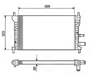 Radiador Água Ford Fiesta Courier 1.0 1.3 Endura 96-99 12581