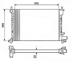 Radiador Água Ford Fiesta Courier 1.4 Endura 96-99 12583