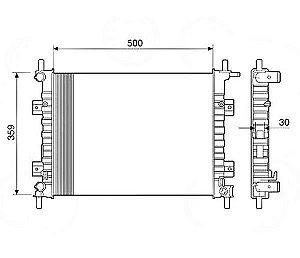 Radiador Água Ford Fiesta Courier Ka 12520