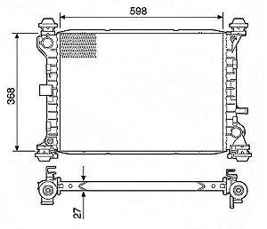 Radiador Água Ford Focus 1.8 2.0 01-08 C S Ar Cond 12731