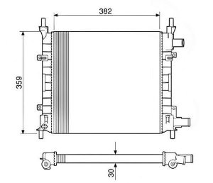 Radiador Água Ford Ka 1.0 1.3 Endura 97-99 12585