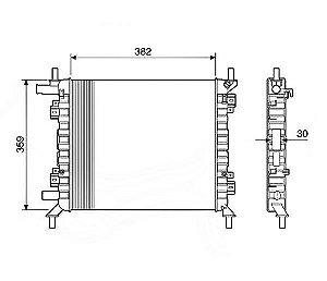 Radiador Água Ford Ka 1.0 1.6 Rocam 00-08 12588