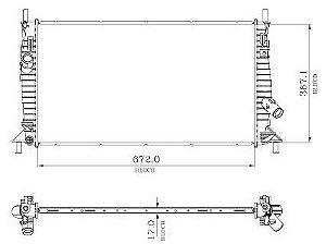 Radiador Água Ford New Focus 1.6 1.8 2.0 09-14 12734