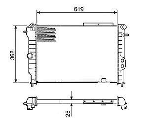 Radiador Água Gm Calibra Vectra C Ar Condicionado 12245