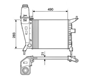 Radiador Água Gm Celta 1.0 1.4 00-05 12579