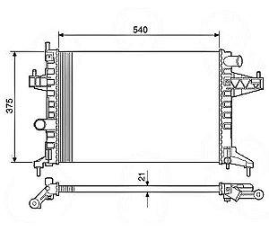 Radiador Água Gm Corsa 1.0 1.4 1.8 C S Ar Montana S Ar 12577