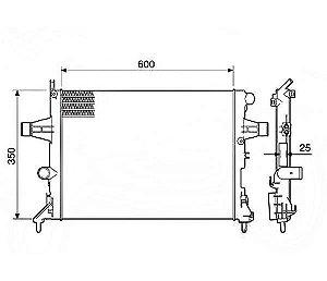 Radiador Água Gm Vectra Astra Zafira C Ar Condicionado 12576
