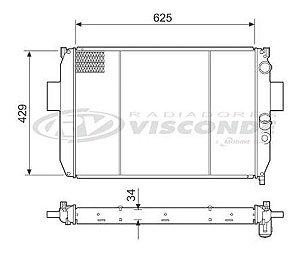 Radiador Água Iveco Daily 2.8 Td C Ar Condicionado12550