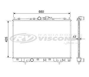 Radiador Água Mitsubishi Pajero Tr4 2.0 C Ar Cond 12627
