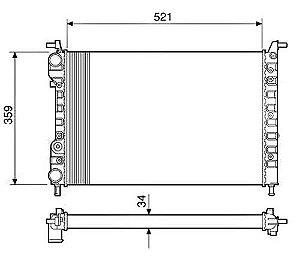 Radiador Água Palio Siena Strada C S Ar Condicionado 12535