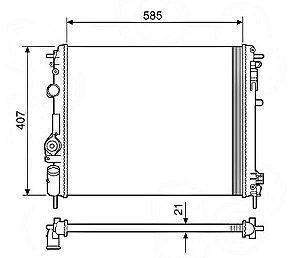 Radiador Água Renault Scenic 1.6 2.0 99-01 12901