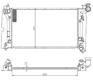 Radiador Água Toyota Corolla 1.6 1.8 16v 02-08 12558