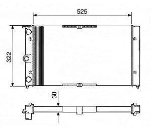 Radiador Água Versailes Royale Santana Quantum S Ar 12255