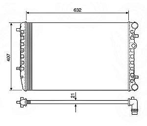 Radiador Água Volkswagen Fox Polo C Ar Cond 12517