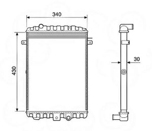 Radiador Água Volkswagen Gol Parati Saveiro 1.0 1.6 12251