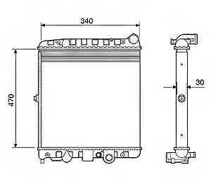 Radiador Água Volkswagen Gol Parati Saveiro 12503
