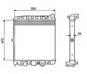 Radiador Água Vw Gol Parati Saveiro C Ar Cond 12504