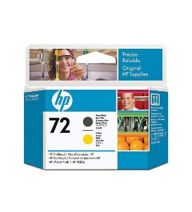 Cabeça de Impressão HP 72 Preto Mate e Amarelo PLUK