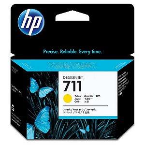Cartucho de tinta HP 711 Amarelo PLUK 29ml (3 unid)
