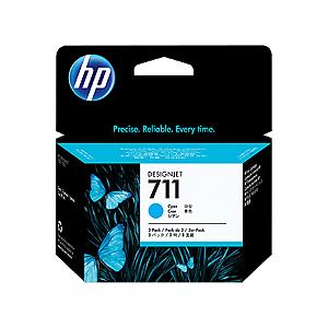Cartucho de tinta HP 711 Ciano PLUK 29ml (3 unid)