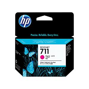 Cartucho de tinta HP 711 Magenta PLUK 29ml (3 unid)