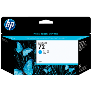 Cartucho de tinta HP 72 Ciano PLUK 130ml