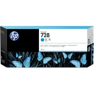 Cartucho de Tinta HP 728 Ciano PLUK 300 ml