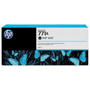 Cartucho de tinta HP 771A preto fosco PLUK 775 ml