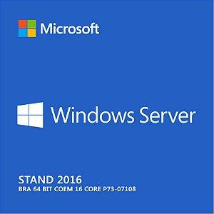 Windows Server Stand 2016 Bra 64 bit COEM 16 core P73-07108