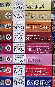 Kit 12 Caixas Incenso Golden Nag Variados
