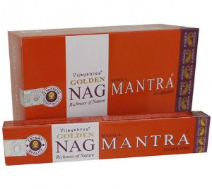Incenso Massala Golden Nag Mantra 15grs