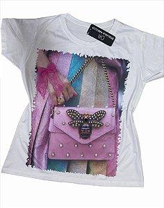 T-Shirt Aplicação Bolsa