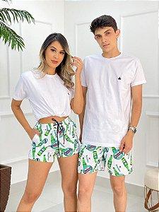 Short Mauricinho FEMININO Branco Heineken