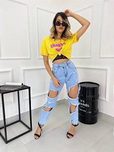 Calça Jeans Destroyd POP