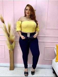 Calça Jeans Tradicional Com Cinta PLUS SIZE