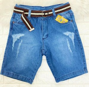 INFANTIL - Bermuda Jeans com Cinto