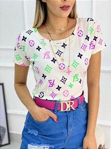 Camiseta Estampa LV