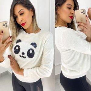 Blusa Veludo Panda