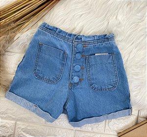 INFANTIL - Short Jeans Buttons Bolsinhos